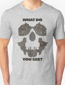 Watchmen - Rorschach Typography  T-Shirt
