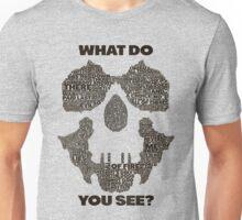 Watchmen - Rorschach Typography  Unisex T-Shirt