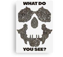 Watchmen - Rorschach Typography  Canvas Print