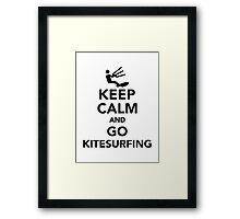 Keep calm and go Kitesurfing Framed Print