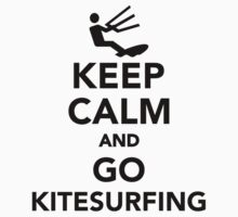 Keep calm and go Kitesurfing Kids Clothes