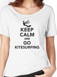 Keep calm and go Kitesurfing Women's Relaxed Fit T-Shirt