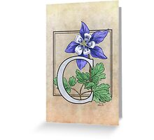 C is for Columbine Greeting Card