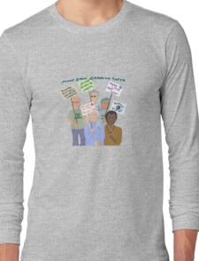 Sixties protest...and the band plays on.. Long Sleeve T-Shirt