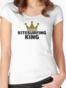 Kitesurfing king Women's Fitted Scoop T-Shirt
