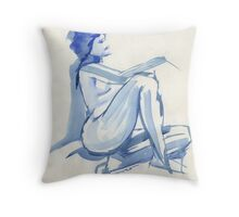 Blue Repose Throw Pillow