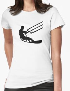 Kitesurfing Womens Fitted T-Shirt