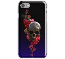 Skull And Roses, Darkly iPhone Case/Skin