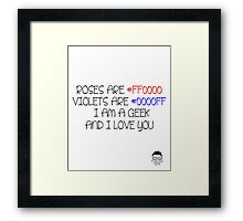 Say it with Hex Codes.. Framed Print