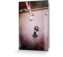 Down At The Pool Hall - 5 Greeting Card