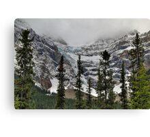 Snowy glaciers Canvas Print