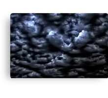 Stormy Sky Above Canvas Print