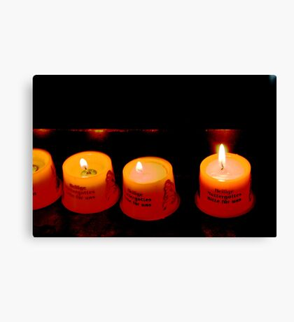 German Candles Canvas Print