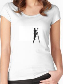Painter // 02 Women's Fitted Scoop T-Shirt