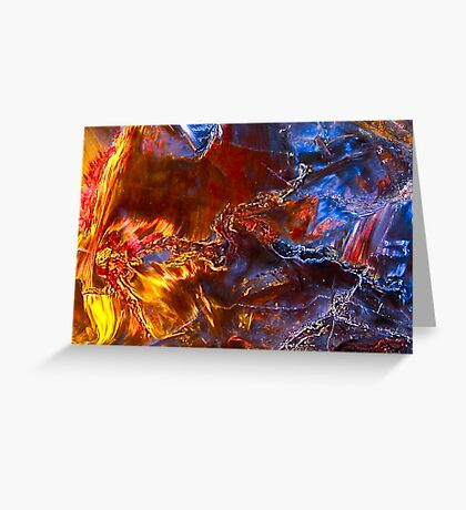 Great Wrath & Vengence - Pietersite Crystal Greeting Card