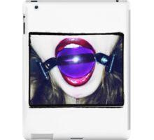 Purple Ball Gag iPad Case/Skin