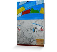 The hitchhiker in Tibet Greeting Card