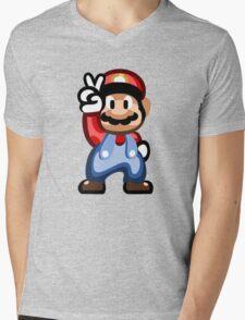 Mario 16 Bit Mens V-Neck T-Shirt