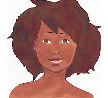 Afro Girl Photographic Print