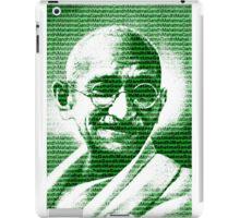 Mahatma Gandhi portrait with green  background  iPad Case/Skin