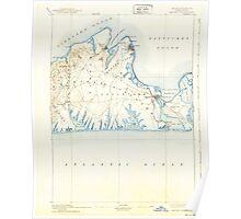 Massachusetts  USGS Historical Topo Map MA Marthas Vineyard 352844 1894 62500 Poster