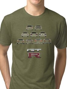 Nissan Skyline White Tri-blend T-Shirt
