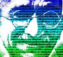 Mahatma Gandhi portrait with multicolour background  Sticker