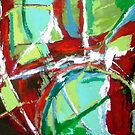 Abstract in Red and Green by Joseph Barbara