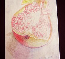 Half of the pomegranate by catyear