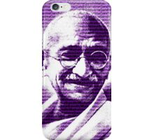 Mahatma Gandhi portrait with purple background  iPhone Case/Skin