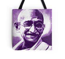 Mahatma Gandhi portrait with purple background  Tote Bag
