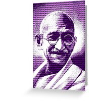 Mahatma Gandhi portrait with purple background  Greeting Card
