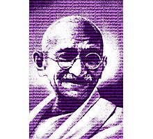 Mahatma Gandhi portrait with purple background  Photographic Print