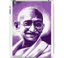 Mahatma Gandhi portrait with purple background  iPad Case/Skin