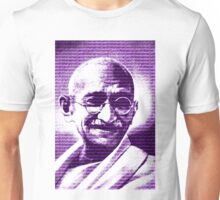 Mahatma Gandhi portrait with purple background  Unisex T-Shirt