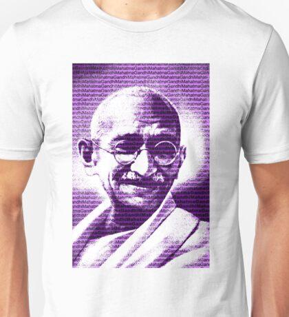 Mahatma Gandhi portrait with purple background  Unisex T-Shirt