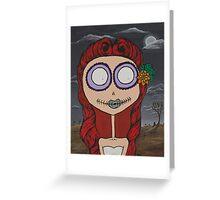Graveyard Girl Greeting Card