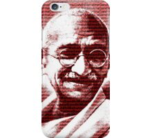 Mahatma Gandhi portrait with red background  iPhone Case/Skin