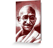 Mahatma Gandhi portrait with red background  Greeting Card
