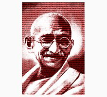 Mahatma Gandhi portrait with red background  Unisex T-Shirt