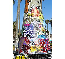 Graffiti Cone - Venice Beach, CA Photographic Print