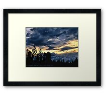 Passing Through the Storm Framed Print