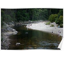 Enjoying Big Salmon River Poster