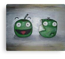 Happy Apple, Sad Apple Canvas Print