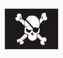 Black and White Skull and Crossbones Baby Tee