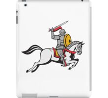 Knight Sword Shield Steed Attacking Cartoon iPad Case/Skin