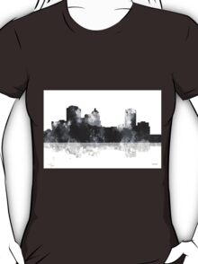 Montgomery Alabama Skyline - Black and White T-Shirt