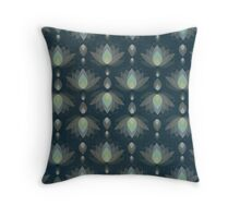 Variations on a Lotus II-Silver Screen Edition Throw Pillow