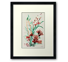 Flowers and Shoots Framed Print