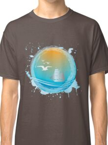 Abstract seaside landscape Classic T-Shirt
